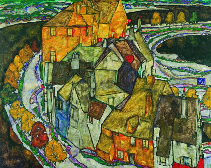 Der Häuserbogen II, Egon Schiele 1915