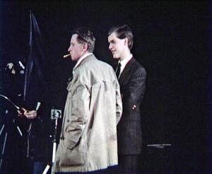 Jean-Marie Straub mit Zigarette