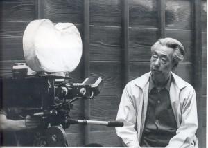 Kenji Mizoguchi am Set
