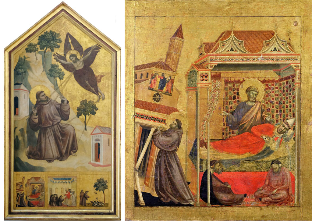 Giotto, St. Francis of Assisi Receiving the Stigmata, Tempera and gold on panel, ca. 1295-1300